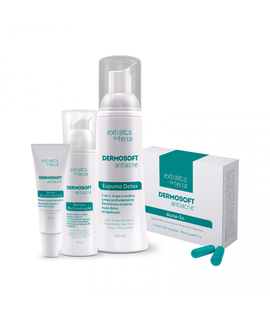 Dermosoft Antiacne Kit Home Care + Acne-In